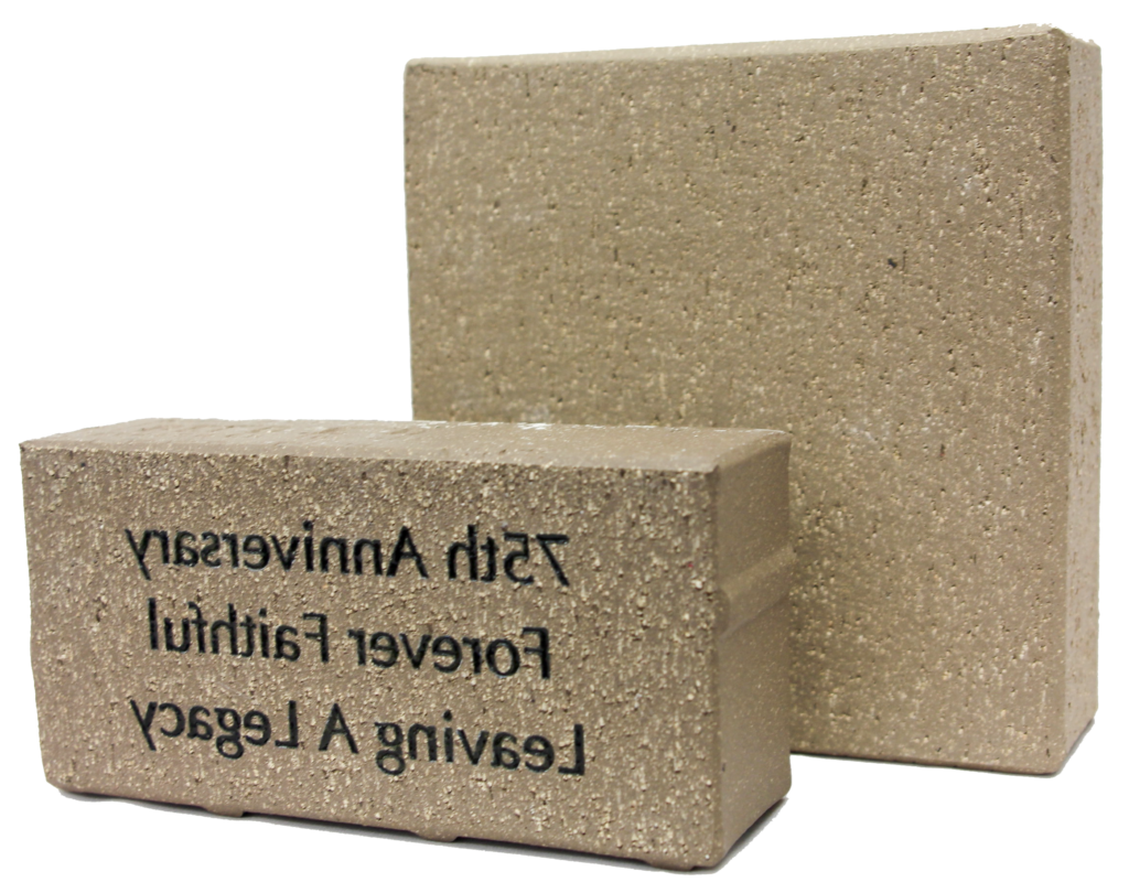 Sample engraved paver bricks